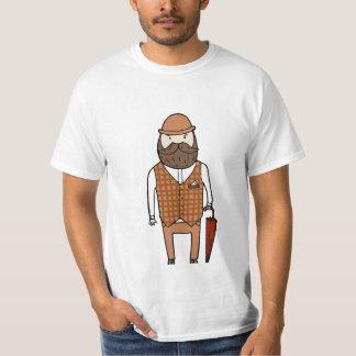 傘を持つ紳士 Tシャツ