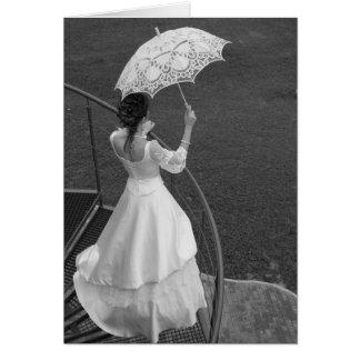 傘を持つ花嫁 カード
