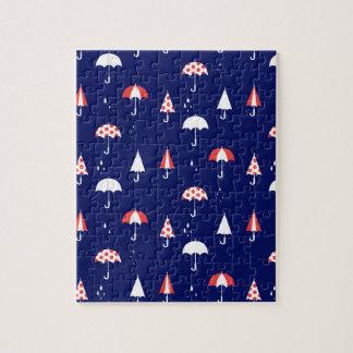 傘パターンヴィンテージおよびよくはしゃぐ ジグソーパズル