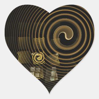 催眠の抽象美術のハートのステッカー ハートシール