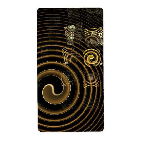 催眠の抽象美術のフラクタル 発送ラベル