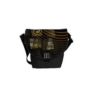 催眠の抽象美術の小型バッグ メッセンジャーバッグ