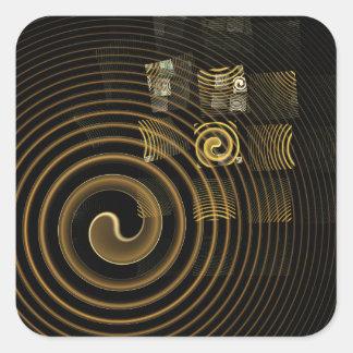 催眠の抽象美術の正方形のステッカー スクエアシール