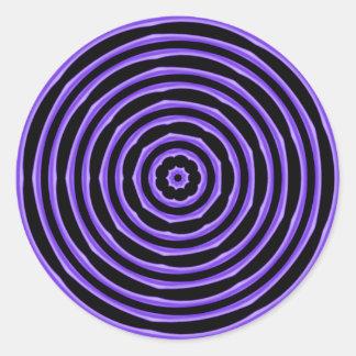 催眠は紫色を一周します ラウンドシール