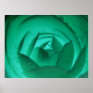 催眠性のツバキの花のプリント ポスター