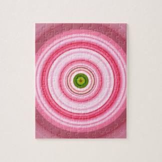 催眠性の円の明るい赤紫色の緑 ジグソーパズル