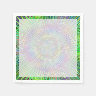 催眠性の星の破烈のフラクタル スタンダードカクテルナプキン