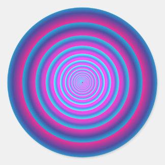 催眠性の曖昧な紫色の熱狂するな円の渦ディスクB ラウンドシール