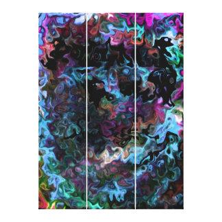 催眠性の渦巻形のな抽象芸術 キャンバスプリント