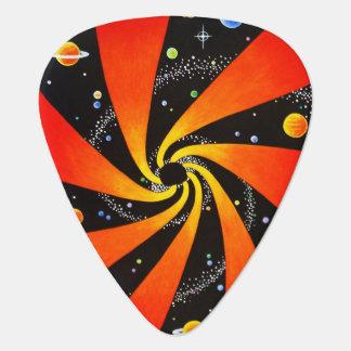 催眠性の渦状銀河 ギターピック