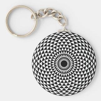 催眠性の白黒Keychain キーホルダー