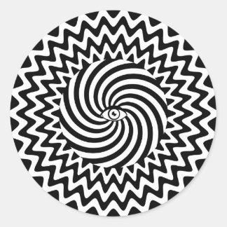催眠性の目のステッカー ラウンドシール