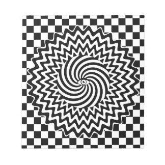 催眠性の目 ノートパッド