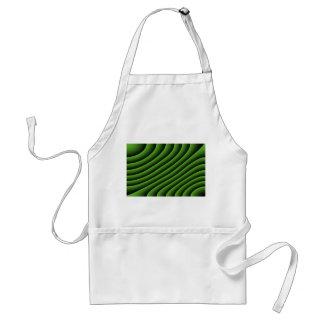 催眠性の緑の波状ラインエプロン スタンダードエプロン