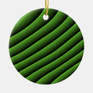 催眠性の緑の波状ラインオーナメント セラミックオーナメント