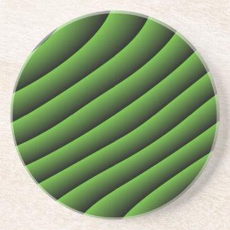 催眠性の緑の波状ラインコースター コースター