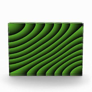 催眠性の緑の波状ライン装飾 表彰盾