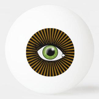 催眠性の緑の瞳 卓球ボール