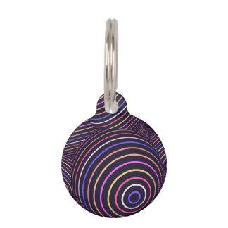 催眠性の虹によって着色される球の抽象芸術 ペット ネームタグ