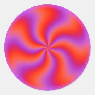 催眠性の螺線形の目の錯覚のおもしろいなネオン ラウンドシール