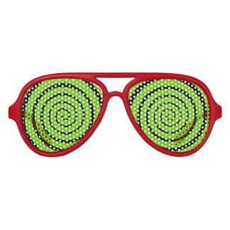 催眠性の螺線形の目 アビエーターサングラス