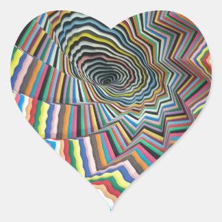 催眠性の螺線形 ハートシール