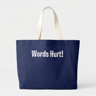 傷つく単語 ラージトートバッグ