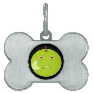 傷のハロウィンのペットタグが付いている邪悪なApple ペットネームタグ