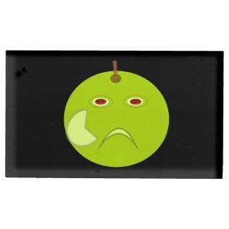 傷ハロウィンが付いている邪悪なApple テーブルカードホルダー