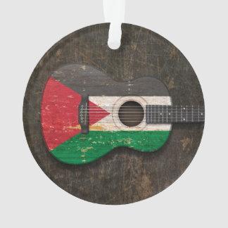 傷付けられたパレスチナの旗のアコースティックギター オーナメント