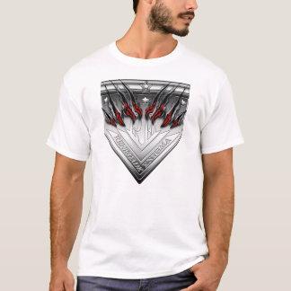 傷付けられた反逆するエニグマの頂上のTシャツ Tシャツ