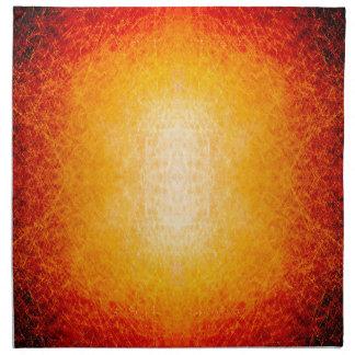 傷付けられた白熱[赤熱]光を放つな火球 ナプキンクロス