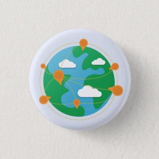 傷日の地球ボタン(白い) 3.2CM 丸型バッジ