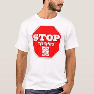 傾くことを止めて下さい Tシャツ