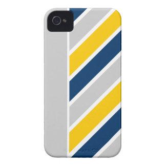 傾けられたストライプのiPhone 4の穹窖 Case-Mate iPhone 4 ケース