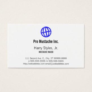 傾けられた地球の凸版印刷の記号 名刺