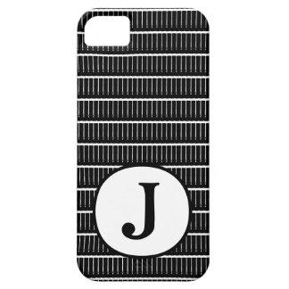 傾向モノグラムB及びWのiPhoneカバー iPhone SE/5/5s ケース