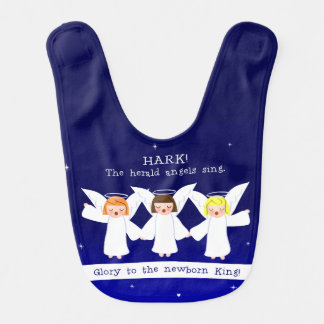 傾聴して下さい! 布告者の天使は生まれたばかりのな王に栄光を歌います ベビービブ