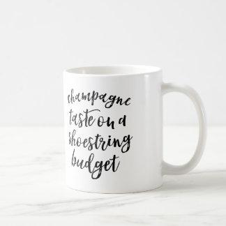 僅かな予算の引用文のマグのシャンペンの好み コーヒーマグカップ