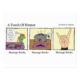 """""""僅かユーモア""""のマッサージは漫画を揺すります ポストカード"""