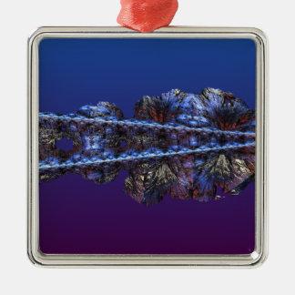 僅か霜-景色 メタルオーナメント