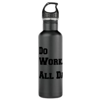 働かせて下さい。 1日中。 無光沢の黒24oz。 水差し ウォーターボトル