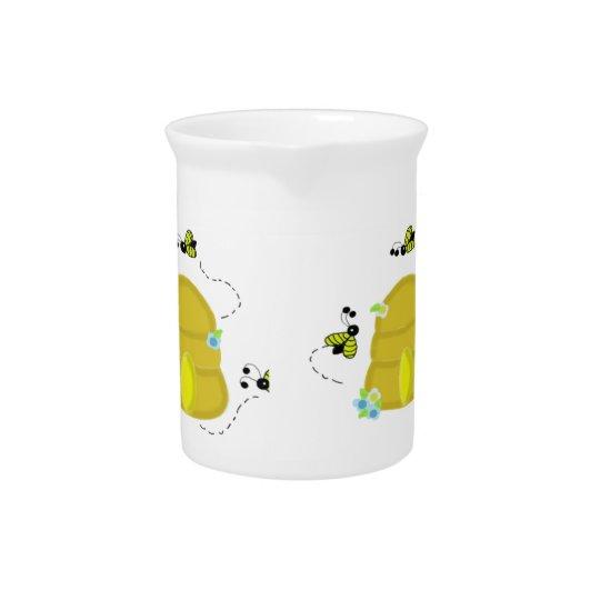 働き者のミツバチの巣の水差し 飲み物ピッチャー