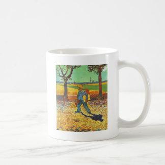 働く彼の方法のペインター コーヒーマグカップ