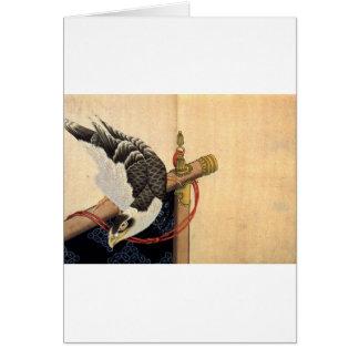 儀式のタカはKatsushika Hokusaiを待機します カード