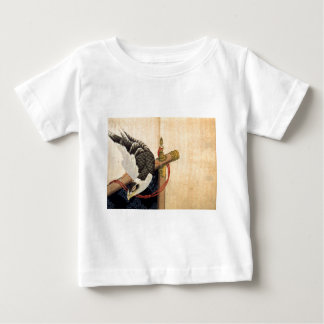 儀式のタカはKatsushika Hokusaiを待機します ベビーTシャツ
