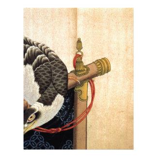 儀式のタカはKatsushika Hokusaiを待機します レターヘッド