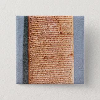 儀式の犠牲を関連付けるタブレット 5.1CM 正方形バッジ