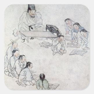 儒教の教室(Sodang) (色刷) スクエアシール