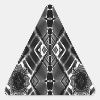優れたな金属の当惑 三角形シール